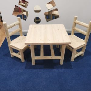 2 armless chairs and one table 800×800 square